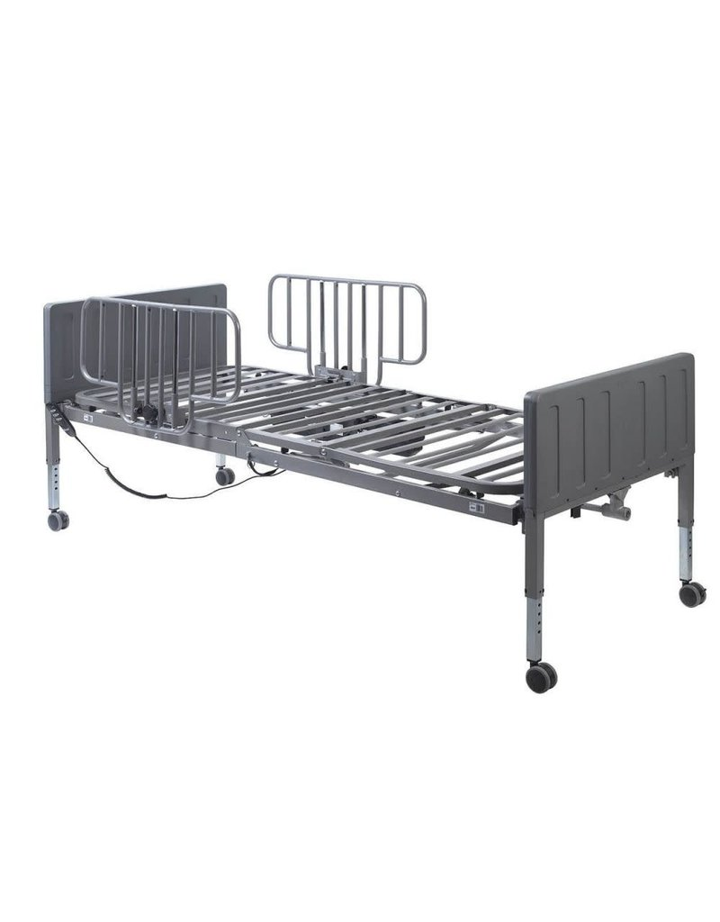 Drive/Devilbiss Ultra Light Plus Hi/Lo Semi Electric Hospital Bed - Half Rails