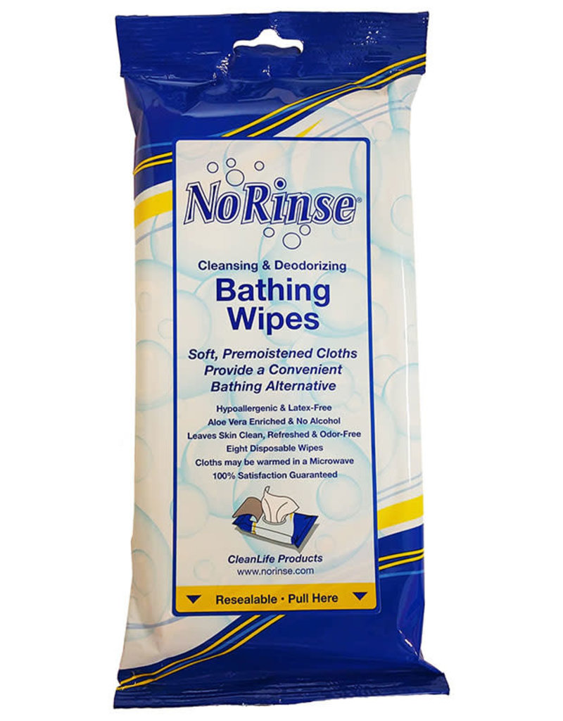 Clean Life Products No Rinse Bathing wipes