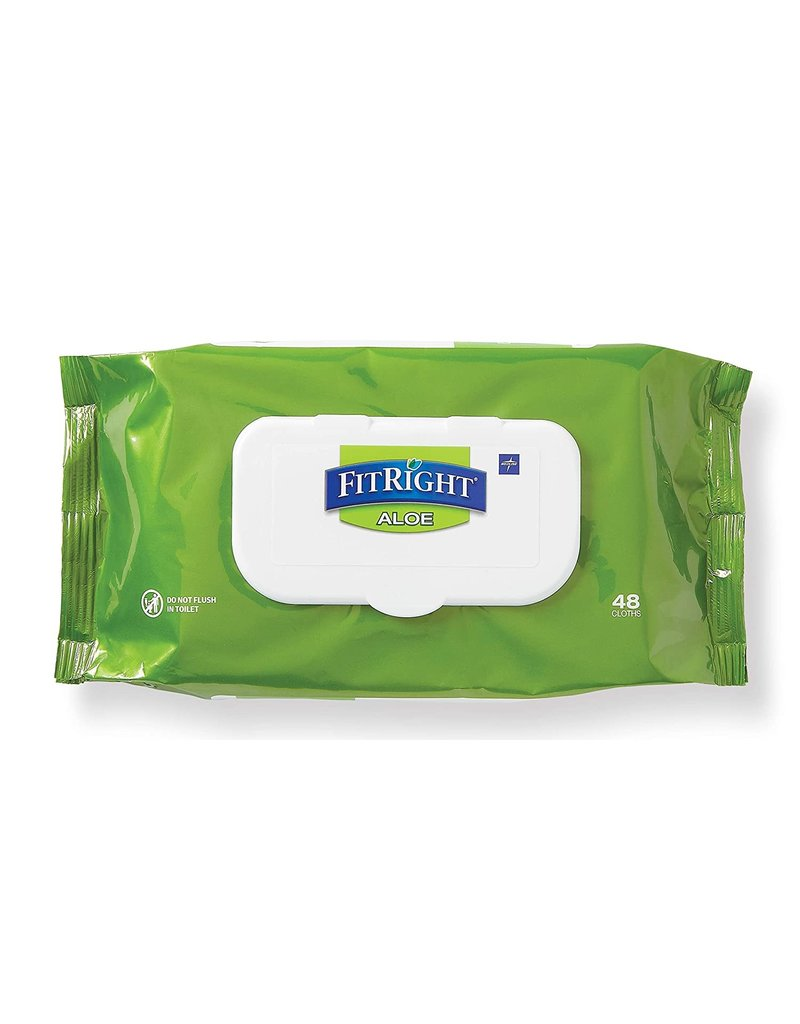 Medline Industries FitRight Aloe Scented Wipes