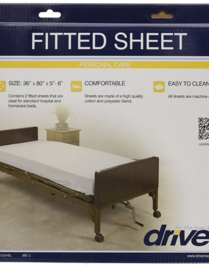 Drive/Devilbiss Hospital Bed Fitted Sheets 2 Pack