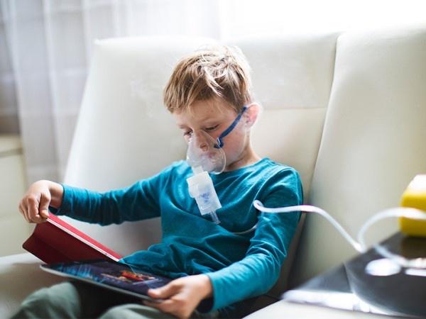 Child Using Nebulizer