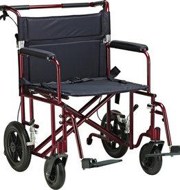 "Drive/Devilbiss 22"" Bariatric Aluminum Transport Chair"