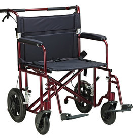 "Drive/Devilbiss 22"" Bariatric Aluminum Transport Chair"