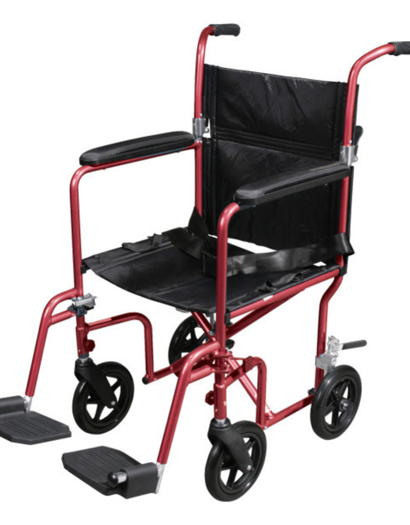 Drive/Devilbiss Deluxe Fly-Weight Aluminum Transport Chair
