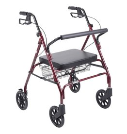 Drive/Devilbiss Bariatric Rollator with Large Padded Seat