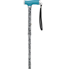 Drive/Devilbiss Folding Cane with Glow Gel Grip Handle, Light Blue