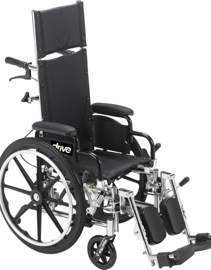 Drive/Devilbiss Viper Plus Light Weight Reclining Wheelchair