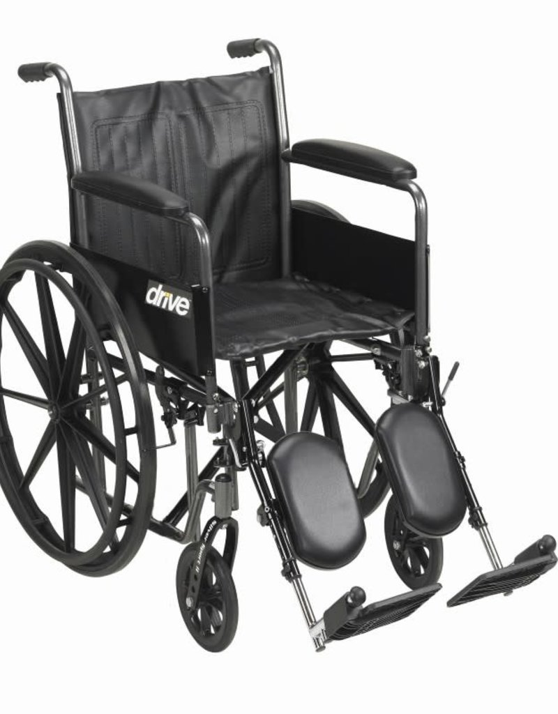 "Drive/Devilbiss Silver Sport II 18"" Wheelchair"