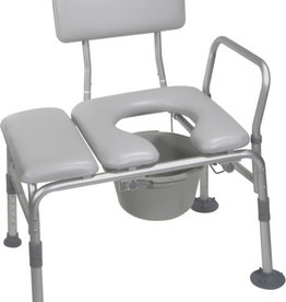 Drive Combination Padded Transfer Bench/Commode