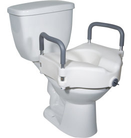 Drive/Devilbiss Raised Toilet Seat with Tool-free Removable Arms