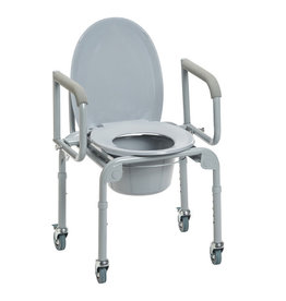 Drive/Devilbiss Wheeled Commode W/ Drop arm Case