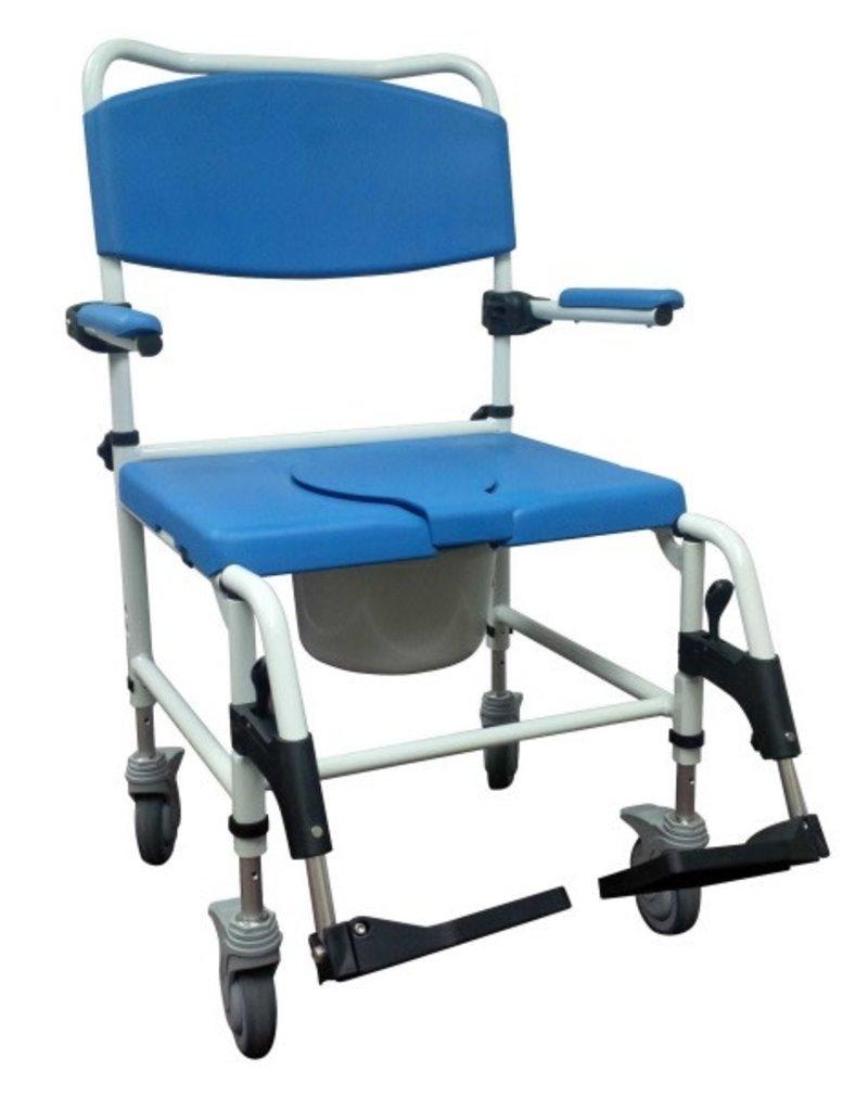 Drive Bariatric Aluminum Rehab Shower Commode Chair