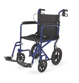 Medline Industries Basic Aluminum Transport Chair 12""