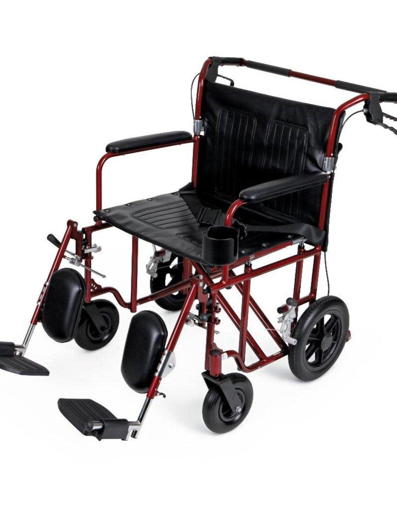 Medline Industries Freedom Plus Lightweight Bariatric Transport Chair
