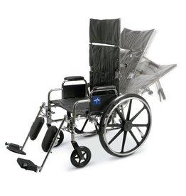 "Medline Industries Excel Reclining Wheelchair 16"" - 18"""