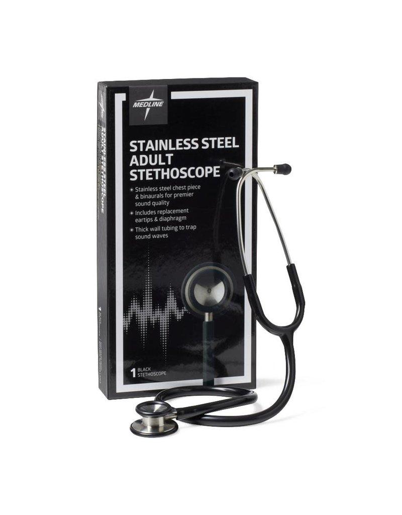 Medline Industries Elite Adult Stainless Steel Stethoscope