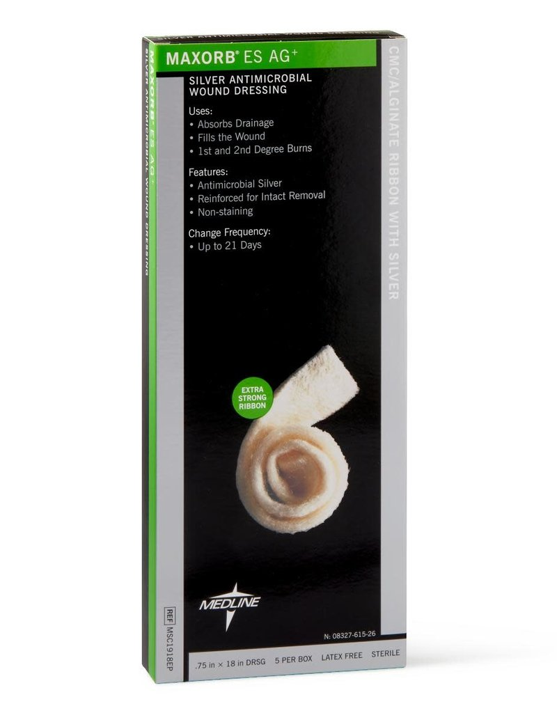Medline Industries Maxorb ES Ag+ Silver Antimicrobial Wound Dressing