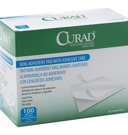 Medline Industries CURAD Sterile Nonadherent Pads w/ Adhesive Tab
