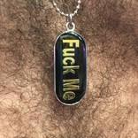 MIL ID Tag Fuck Me