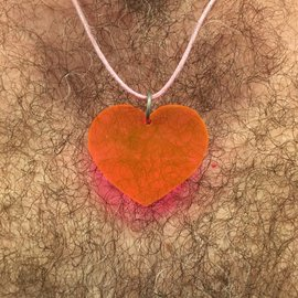Night Gear Acrylic Heart - UV Orange
