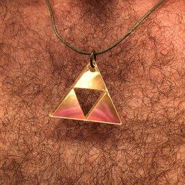 Night Gear Acrylic Power Triangle - Metallic Gold