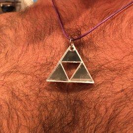 Night Gear Acrylic Power Triangle - Metallic Silver