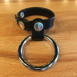 M2M36 Double Cock Ring Leather and Metal