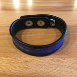 M2M68B Snake Skin Cock Ring Blue