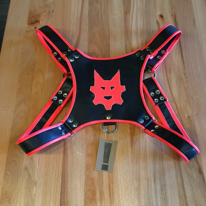 Ryder Gear Ryder Pup Club Harness Fluorescent Orange OS