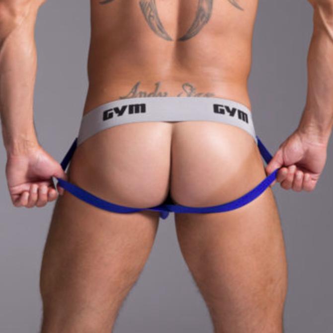 """GYM GYM Workout Jockstrap 2"""" Blue"""