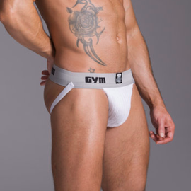 "GYM GYM Workout Jockstrap 2"" White"
