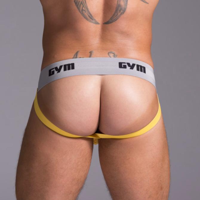 """GYM GYM Workout Jockstrap 2"""" Yellow"""