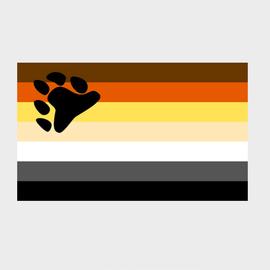 Bear Pride Flag (3' x 5' Polyester)