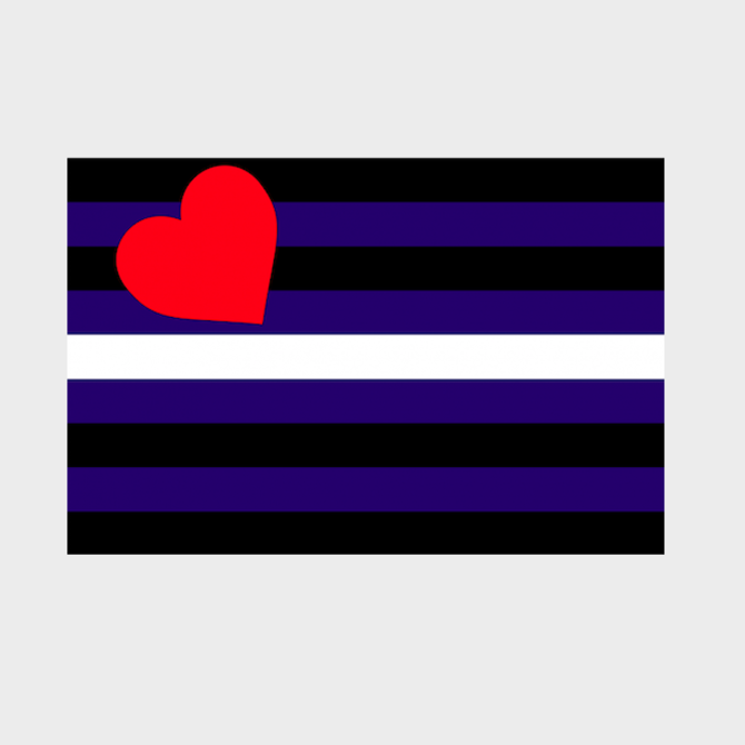 Leather Pride Flag (2' x 3' Nylon)
