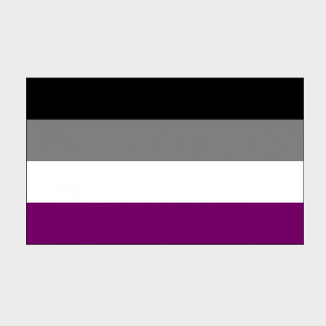 Asexual Pride Flag (3' x 5' Polyester)