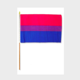 Large Bisexual Pride Flag on a Stick