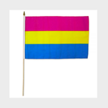Large Pansexual Pride Flag on a Stick