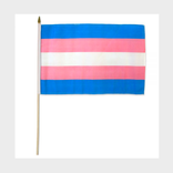 Large Transgender Pride Flag on a Stick