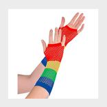 Rainbow Fishnet Glove