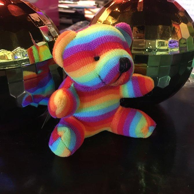 Plush Rainbow Pride Bear