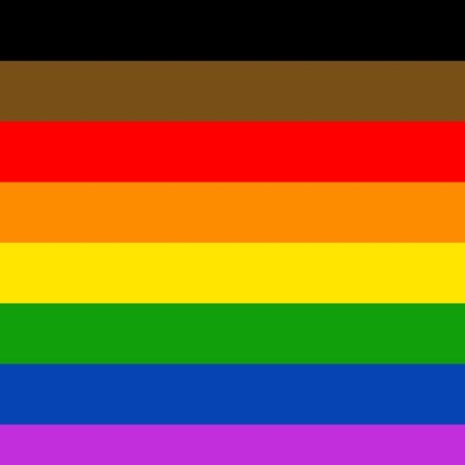 Philly Rainbow Pride Flag (3' x 5' Polyester)