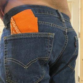 Gay Hanky (Bandana) Orange