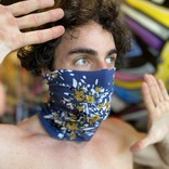 You Can't Stitch With Us! Cerulean Floral Neck Gaiter - YCSWU!