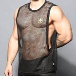 Andrew Christian Slick Mesh Laurel Gym Tank