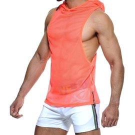 STUD Stud Zero Hooded Vest Neon Orange
