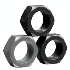 Tom of Finland 3-Piece Silicone Cock Nuts Set