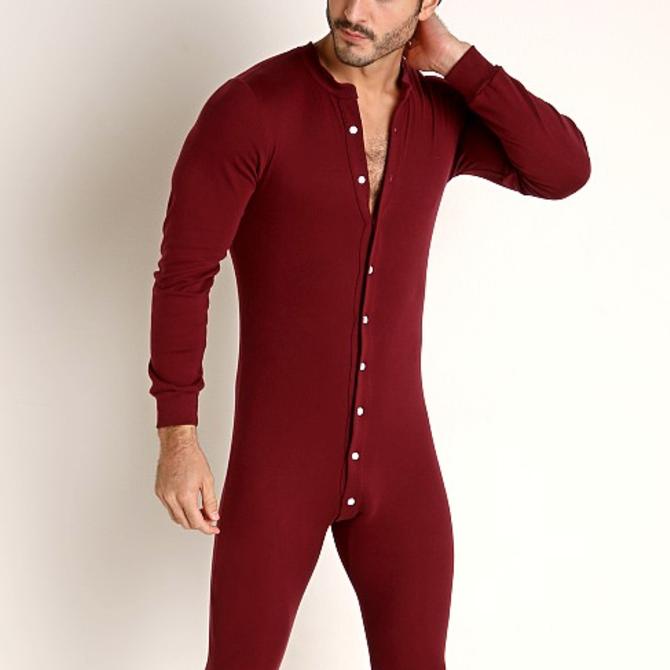 Go Softwear/American Jock Lumber Jack Union Suit - Bordeaux