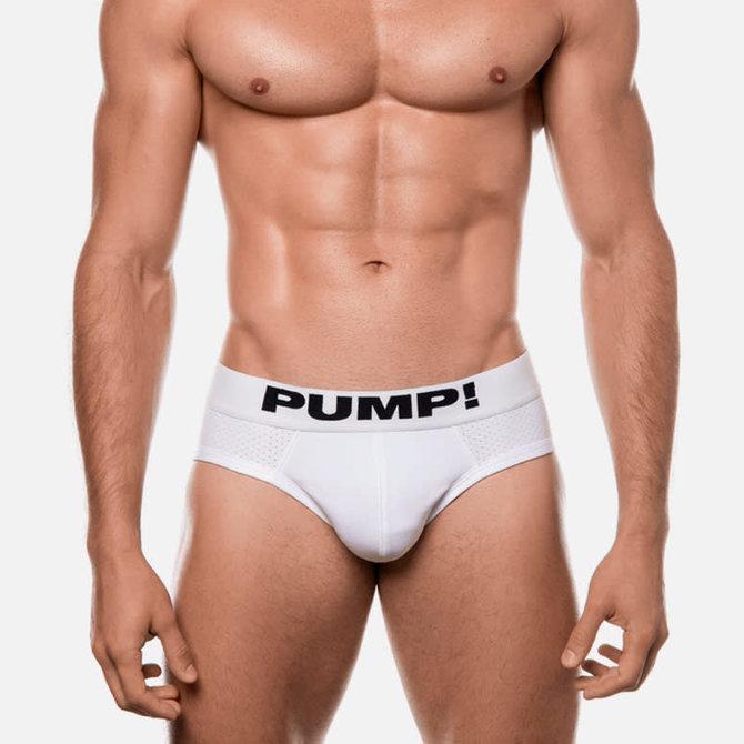 PUMP! White Classic Brief