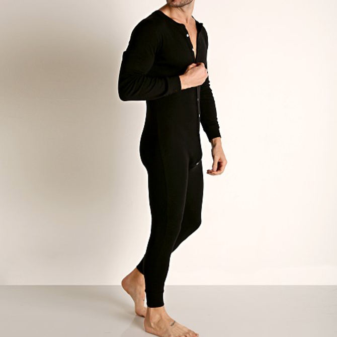 Go Softwear/American Jock Lumber Jack Union Suit - Black