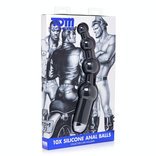 Tom of Finland - 10x Silicone Anal Balls (Vibrating)